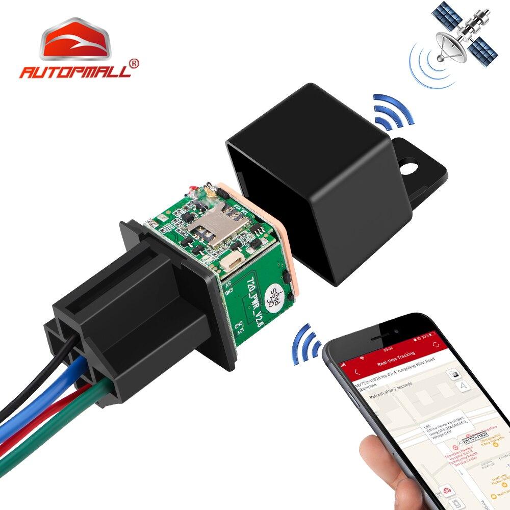 Реле GPS трекер Автомобильный GPS локатор отключается масло топливо LK720 обновленная версия GSM GPS автомобильный трекер Отслеживание в реальном ...