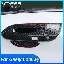 Vtear Für Geely Coolray sx11 außen griff rahmen trim Auto türgriff schüssel chrom styling abdeckung dekoration zubehör teile