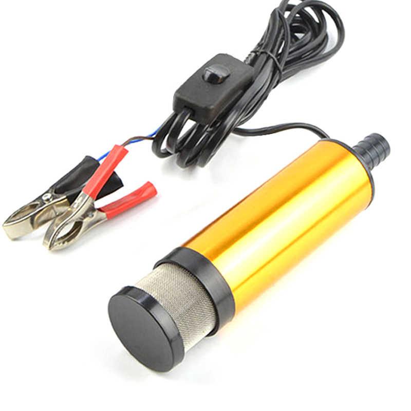 Мини Автомобильный Электрический масляный насос 12В 24В для перекачки дизельного масла воды погружной корпус из алюминиевого сплава 12л/мин насос для перекачки топлива