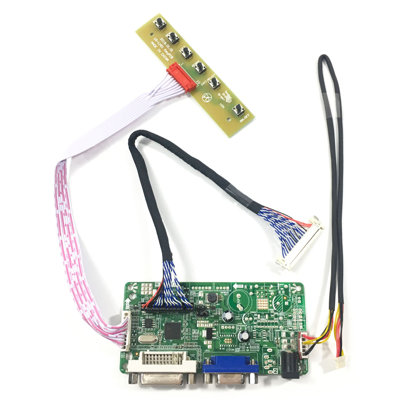 VGA HDMI Control Card for G170EG01 V.1 with LVDS cable G170EG01 V1 Test Board