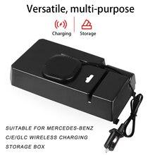 Vehemo 1 шт. Беспроводная зарядка коробка для хранения автомобиля водонепроницаемый автомобиль для защиты подлокотник коробка для хранения Но...