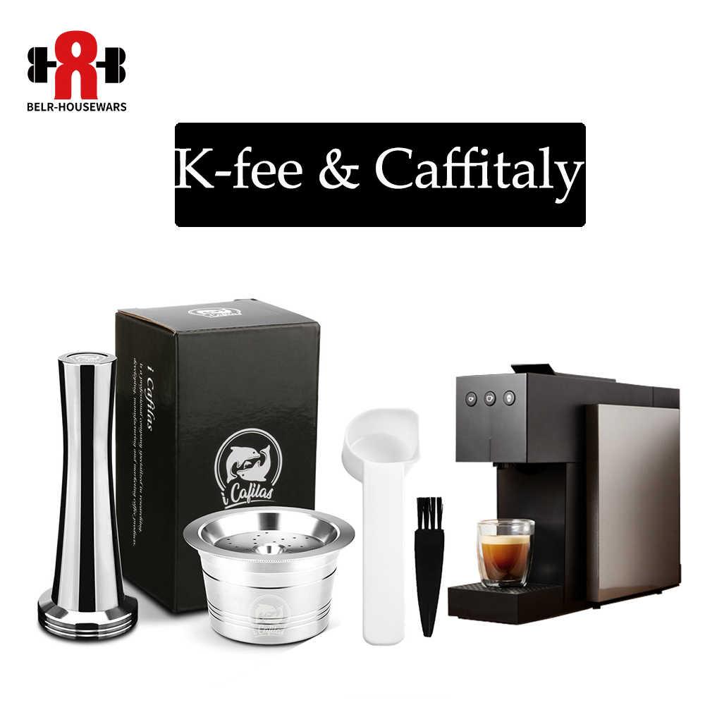 Icafilas Stainless Steel Coffee Capsule Pod Reuable K Fee