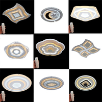 Modern LED Ceiling Lights Acrylic Creative Lighting Fixtures Living Remote Control square round Bedroom Lamp Luminaires