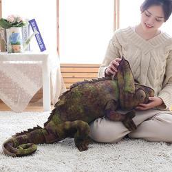 D novidade camaleão brinquedos de pelúcia recheado lance travesseiro animal macio pelúcia festa segurar travesseiro bebê dormir travesseiro cadeira almofada