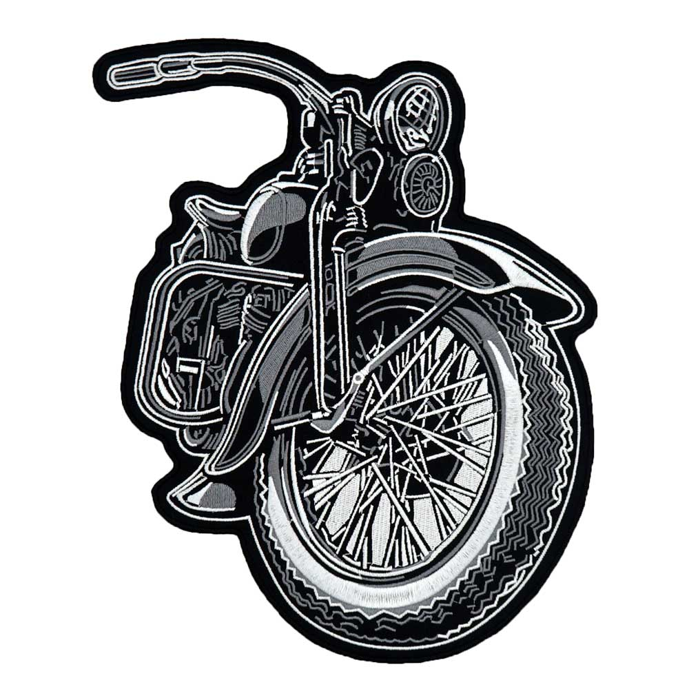 large motor iron on backing Embroidered Sewing Label punk biker Patches Clothes Stickers Apparel Accessories Badge