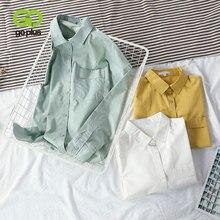 GOPLUS – chemisier Vintage pour Femme, Haut jaune, vert, blanc, grande taille, C9679, 2021