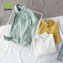 White Blouse Women's Shirt Vintage Yellow Green Plus-Size Bluzki Femme C9679 Tops Camisas