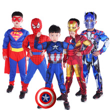 Super Hero Clothes Jumpsuit Captain America Superman Batman Hulk IronMan Thor Muscle Cosplay Costumes Halloween Gift superman super hero comics