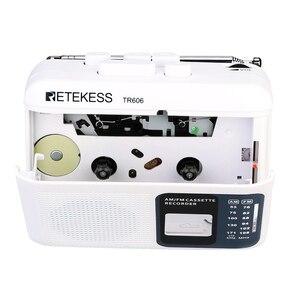 Image 3 - Retekess TR 606 נייד רדיו קלטת רדיו FM AM מגנטי קלטת קלטת השמעת קול מקליט 48cm אנטנת 3.5mm מיקרופון
