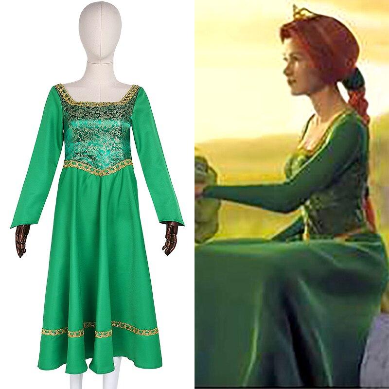 Halloween Shrek 2020 2020 New Arrival Shrek Princess Fiona Cosplay Costume DressAdult