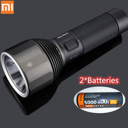 Xiaomi mijia nextool lanterna busca tocha 2000lm 380m 5 modos ipx7 recarregável à prova dtype água luz led tipo-c 2 * baterias