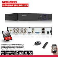 8CH AHD grabadora de vídeo H.265 + 5MP 4MP 1080P 8 Canal 5 en 1 híbrido DVR Wifi XVi TVi CVI IP NVR para cámara CCTV para casa