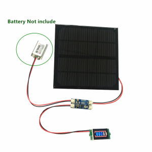 Image 2 - 6V 3W 9V 2W 12V 2W 3W Solar panel with Solar min battery charger with battery display DIY KIT PH 2.0 Cable