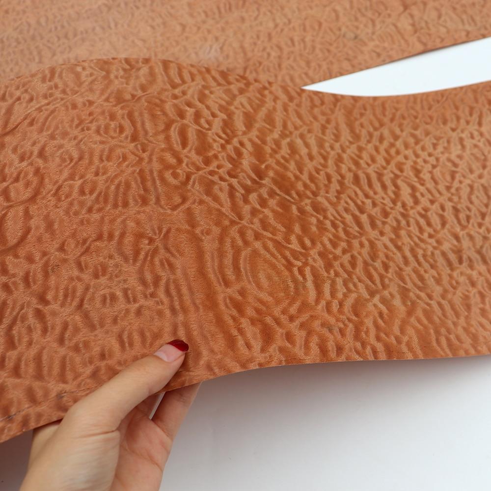 2x Natural Genuine Sapele Pommele Veneer Decorative Sliced Veneer For Furniture