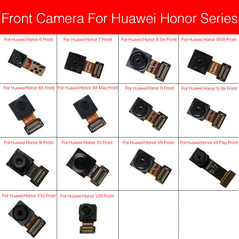 Front Camera For Huawei Honor View 6 7 8 V8 8x 9 9i V9 10 V10 V20 Max Plus Lite Play Small Facing Camera Replacement Repair