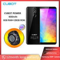 "Cubot Power 6000mAh Helio P23 Octa Core 6GB RAM 128GB ROM 5,99 ""FHD + Android 8,1 Smartphone 16.0MP 6P lente teléfono tipo-C 4G"
