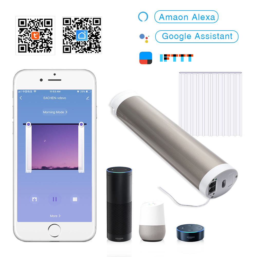 Tuya Smart Home Smart Curtain Motor Google Wifi Intelligent Smart Curtain Motorize Blind Compatible With Alexa Google Home IFTTT