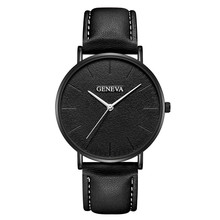 цены Geneva Watch Fashion Simple Men Watches Ultra Thin Mens Watches Leather Band Quartz Casual Men Watches Montre homme reloj hombre