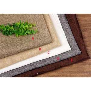 Image 2 - 100x70cm Photography Props Linen Texture Cotton Photo Studio Photography Background Brackgrop Vintage Blended Cloth Woven Fabric
