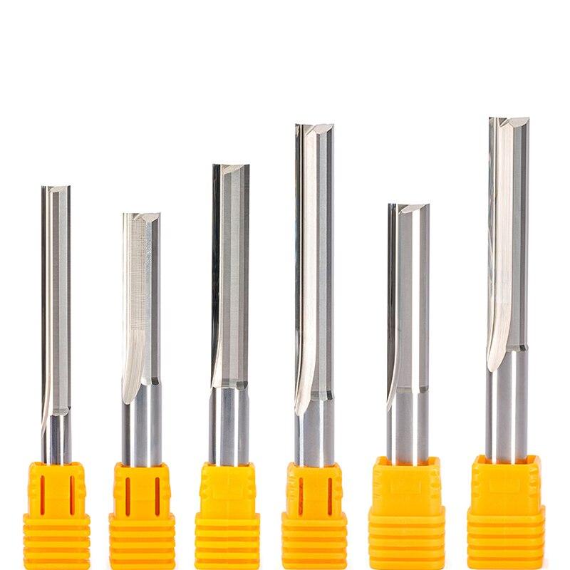 2 шт. 3,175 4 5 6 8 10 мм прямой слот резец древесины с ЧПУ твердосплавные две двойные флейты ЧПУ фрезерный станок фрезерный MDF фанера бит