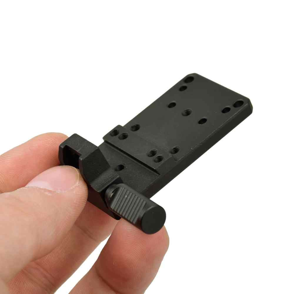 Glock 17 19 22 23 Belakang Penampakan Gunung Dasar Pelat Mount Universal Cocok Red Dot Sight Pistol Aksesoris untuk Racun dan Viper RMR