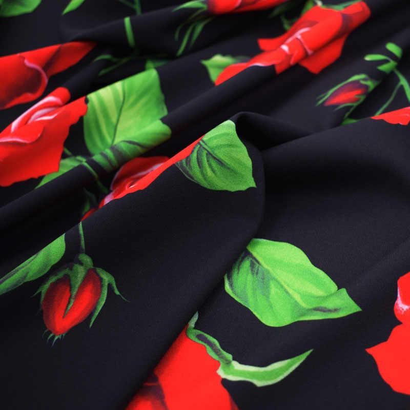 الأحمر الوردي الرقمية اللوحة تمتد هابيغابي النسيج ل تنورة فستان ستان tissu الأفريقية بازان ريتشي getzner telas tissus tela