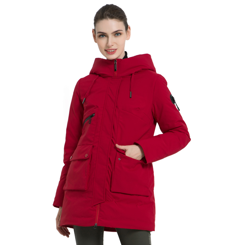 ICEbear 2019 New Winter Hooded Jacket Women's Coat Fashion Female Warm Winter women's Parkas Plus Size Clothing GWD19078I