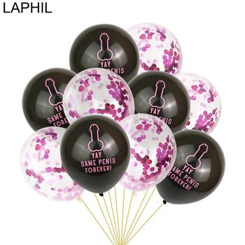 LAPHIL 10pcs YAY Same Penis Forever Ballons Bachelorette Party Decoration Bridal Shower Confetti Balloons Hen Night Party Favors image