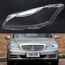 سيارة عدسة المصباح الأمامي لمرسيدس بنز W221 S280 S300 S350 S500 2011 2012 2013 سيارة العلوي كشافات عدسة السيارات قذيفة غطاء