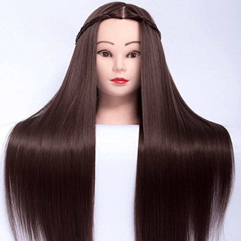 Head Dolls For Hairstyles 65cm Fiber Hair Mannequin Head Hairstyles Female Mannequin Hairdressing Styling Training Head