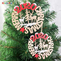 Nicro Wooden Sign 2020 Merry Christmas Decor Unique Design New Year Home New DIY Party Decoration  #Chr78