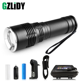 super bright 4 core p50 led flashlight 4 lighting modes telescopic zoom support one key to close suitable for outdoor Super bright LED Flashlight supports zoom Waterproof LED Torch 5 light modes camping light for night lighting Outdoor adventure