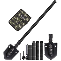 Tactical Military Folding Telescopic Shovel Lifter Mounted Shovel For Fishing Outdoor Emergency Camping Gear Multifunction Tool