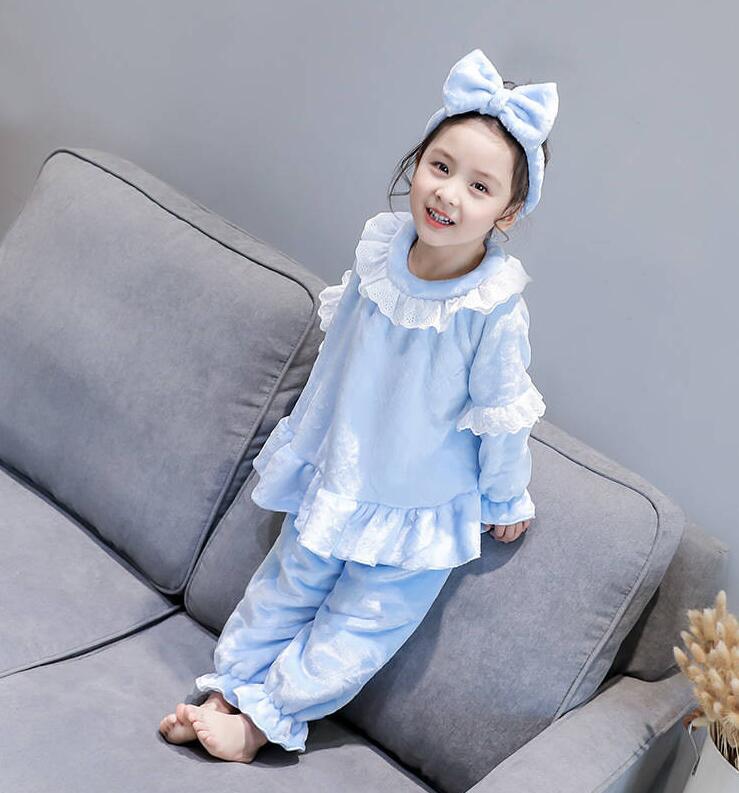 Детские пижамные комплекты с героями мультфильмов; хлопковый комплект одежды с длинными рукавами; сезон весна-зима; детский пижамный комплект; одежда для сна для маленьких мальчиков и девочек - Цвет: Оранжевый