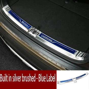 for Skoda Kodiak trunk trim stainless steel back guard pedal decorative accessories
