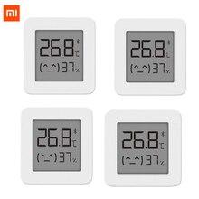 [أحدث نسخة] شاومي Mijia بلوتوث ميزان الحرارة 2 اللاسلكية الذكية الكهربائية الرقمية الرطوبة ميزان الحرارة العمل مع Mijia APP
