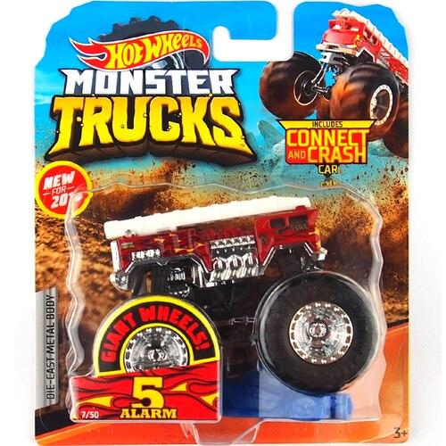 1: 64 оригинальные горячие колеса гигантские колеса Crazy Barbarism Монстр металлическая модель грузовика игрушки Hotwheels большая ножная машина детский подарок на день рождения - Цвет: 7
