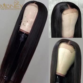 30 32 cal zamknięcie koronki peruka 4 #215 4 zamknięcie peruka prosto koronkowa peruka na przód 180 Remy koronkowa peruka brazylijski ludzki włos peruka zamknięcie koronki peruka tanie i dobre opinie MISNEY Remy Ludzki Włos Proste CN (pochodzenie) Średnia wielkość