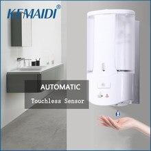 KEMAIDI Touchless Sensor Automático Dispensador de Sabão Desinfetante para as mãos Shampoo Detergente Dispenser Fixado Na Parede Para Cozinha Banheiro