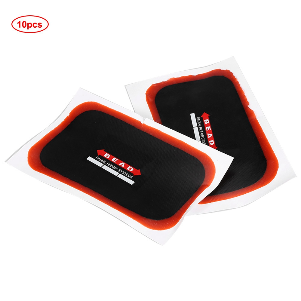 10 Pcs Universal Radial Tire Repair Patch         Car Tire Repair Tools Rubber One-Time Repairing Patch For Motorcycle Cars Radial Tire