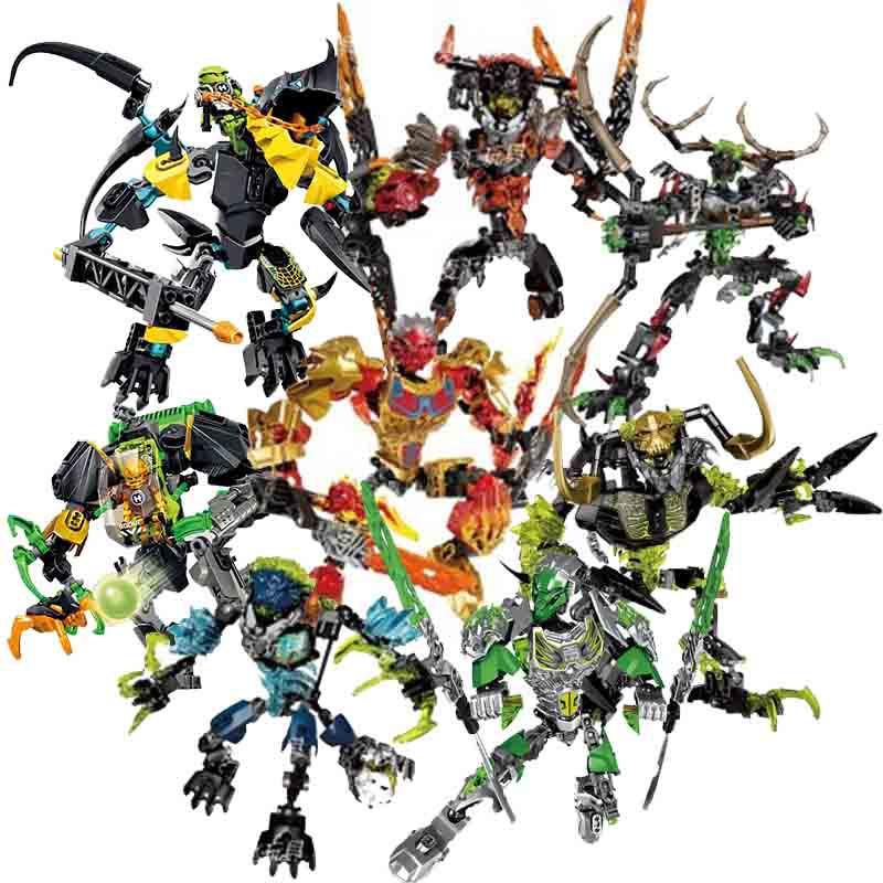 Bionicle herói fábrica 6 marines ekimu msdk fabricante tahu uniter fogo umarak destruidor pohatu unificador tempestade figura bloco de construção brinquedo