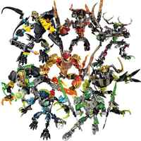 Bionicle Hero Factory 6 Marines Ekimu Msdk Maker Tahu Uniter Fire Umarak Destroyer Pohatu Uniter Storm Figure Building Block Toy