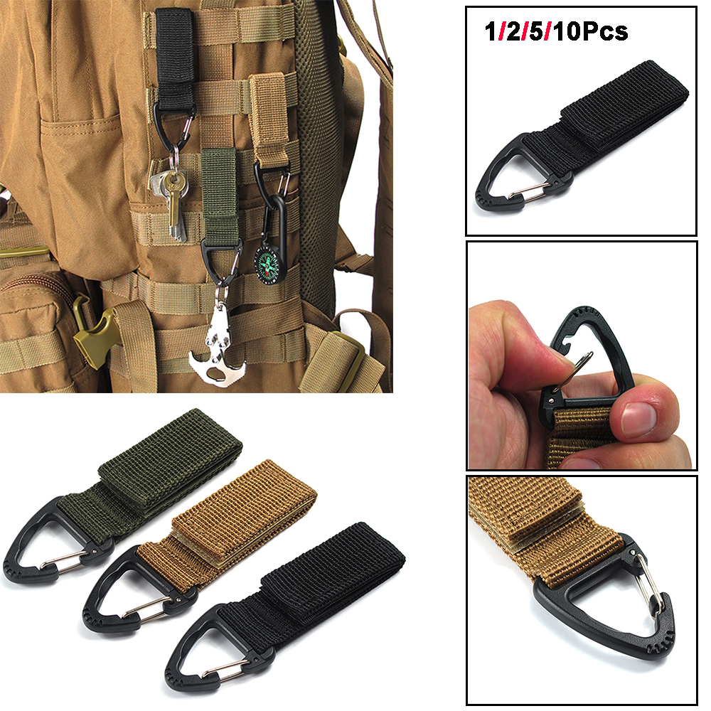 Molle Strap EDC Outdoor Equipment Camping Backpack Bag Water Bottle Clips