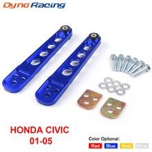 2 Pcs Posteriore Inferiore di Controllo Braccio Asr Subframe Brace Tie Bar Braccia Kit per Honda Civic 2001 2005 Es dx Lx Si Em EP3