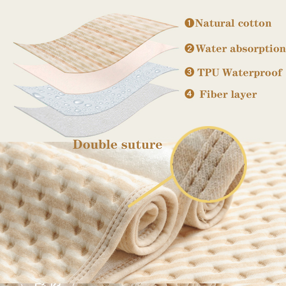 Reusable Baby Waterproof Changing Mats High Quality Cover Mattress Diaper for Newborn Cotton Changing Pad Bed Sheets Mat