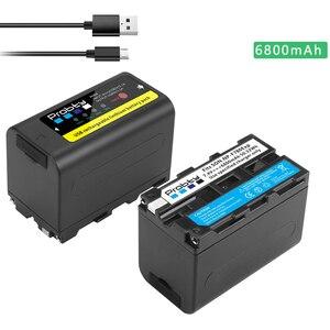 Image 5 - 5200mAh NP F770 NP F750 NP F770 np f750 NPF770 750 Batteries + LED USB Chargeur pour Sony NP F550 NP F770 NP F750 F960 F970