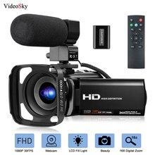 Видеокамера с микрофоном FHD 1080P, 30FPS, 24MP, Vlogging, YouTube, камера с цифровым зумом, видеокамера, веб-камера, рекордер