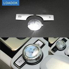 Car Multimedia Knob Button Trim Badge Cover Emblem Sticker for Benz C E GLK Class W204 W212 X204 Mercedes Accessories