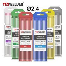 YESWELDER 6 Цвет код Вольфрам электрод 1,0/1,6/2,4/3,2/4,0 мм из искусственного меха головы 175 мм Вольфрам иглы Вольфрам стержень для TIG сварочный пистолет