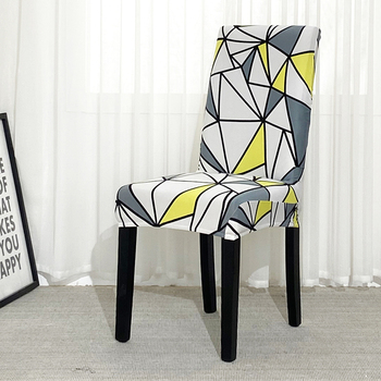 Black &Amp; White Stretchable Chair Cover For Dining Chairs 3 Chair And Sofa Covers